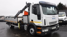 Iveco Eurocargo 120E 22 12 Ton 17ft all aluminium dropside body in Down