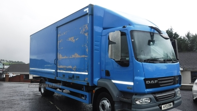 Daf 55-180 14 tonnes 24ft GRP box with 2 side doors in Down