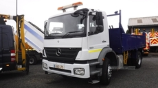Mercedes Atego 1824 18 tonnes double dropside tipper , tar chutes in Down